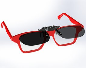 3D print model frameless sunglasses vision