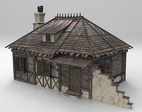 Medieval house fantasy 03 3D asset