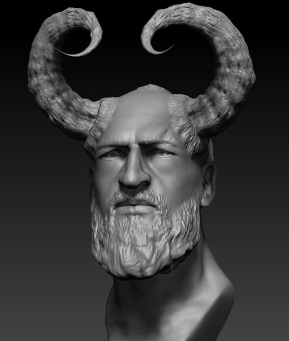 3d male head sculpt