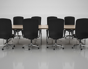 Conference Meeting Room Furniture 09 3D model