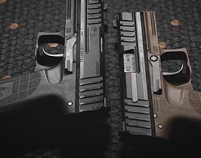 PMS KG19 Pistol and Knife 3D model
