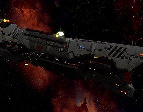 3D model Homeworld - Vaygr Battle Cruiser