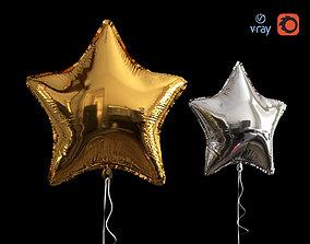 3D model Star Balloons