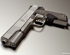 animated 45 ACP Smith and Wesson Gun Model