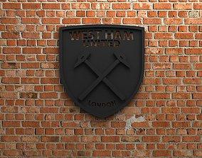West Ham United FC Logo 3D printable model