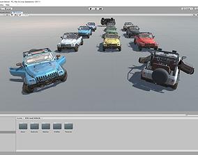 Unity SUV 4x4 vehicle pack 3D model