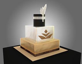 3D Gold cake