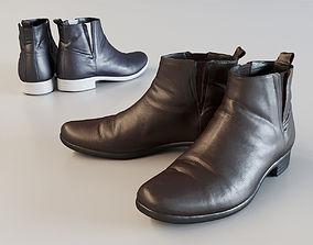 Leather Short Boots 3D asset