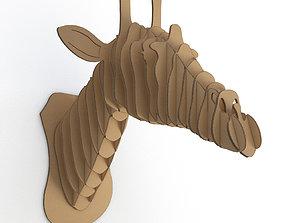 Cardboard Sculpture Giraffe 3D