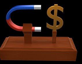 Money magnet 3D model