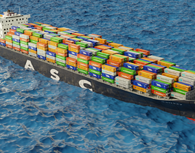 3D model ASC Qaitbay container ship