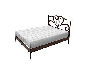 3D asset double bed
