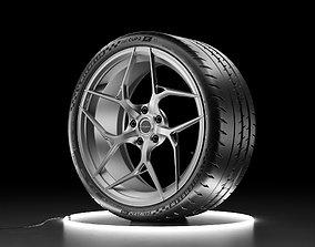 Car wheel Michelin Pilot Sport Cup 2R and 3D asset 3