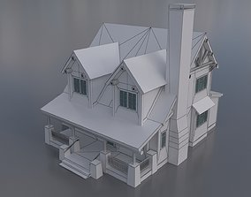 3D model Country House 02