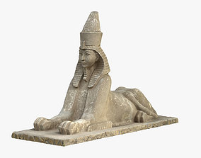 Sphinx 3D Scanned Sculpture Model VR / AR ready