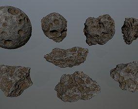 3D asset Asteroid Set