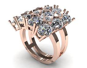 Flower Diamond Ring 3D printable model
