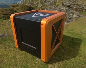 3D model VR / AR ready Sci-Fi Boxes Low-poly