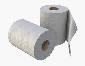 3D model game-ready Toilet Paper Rolls