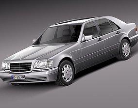 Mercedes-Benz S-class W140 1991-1998 3D