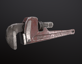 3D model game-ready Pipe Wrench