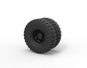 3D print model Diecast Double wheel 3