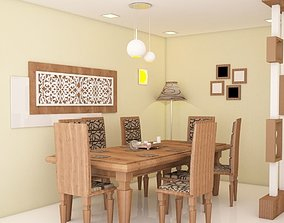 dinning table with partiton 3D model