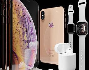 3D model Apple Set 2018