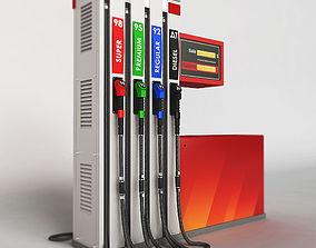 Fuel dispenser building 3D model