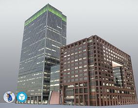 3D model London 25Bank Street JPMorgan Skyscraper