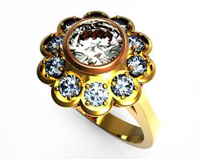 Engagement ring in stl and obj format 3D printable model
