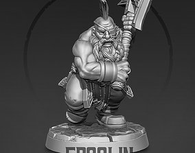3D printable model Dwarf berserker