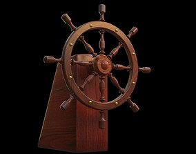 rigged Steering the ship 3D Model