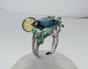 3D print model cocktail ring 3d