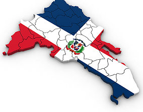 3d Political Map of the Dominican Republic