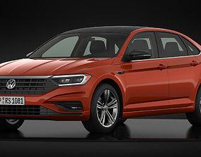 3D model Volkswagen Jetta R-Line 2019 Detailed Interior