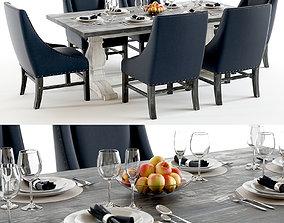 3D Curations Limited - Trestle Vintage dining set