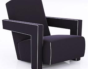 3D Pair of Gerrit Thomas Rietveld Chairs
