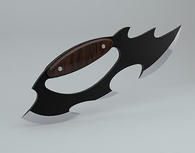 3D model Weapons - Knife with brass knuckles handled