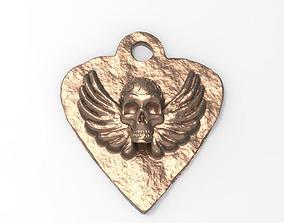 3D printable model special skull pendant
