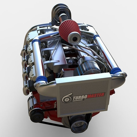 V8 TurboDiesel Modeled in Rhino 5!