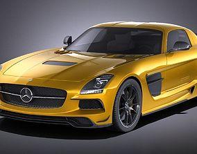 3D Mercedes SLS AMG BLACK 2015 VRAY