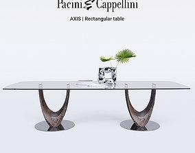 Pacini Cappellini AXIS Rectangular table 3D
