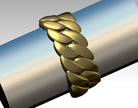 Cuba Cuban Chain Link Ring - ALL SIZE 3D print model