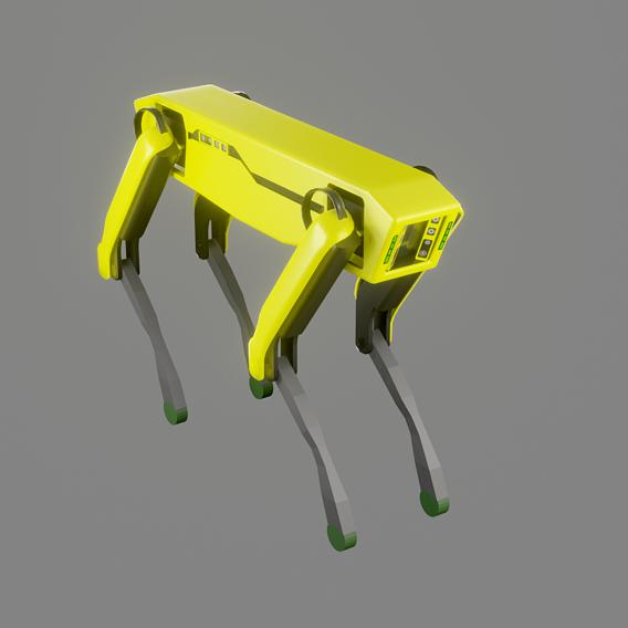 Boston Dynamics Dog - Low Poly PBR- Game Ready