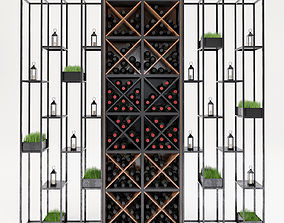 Wine shelf 3D