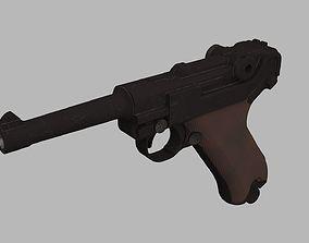 3D model handgun Luger Parabellum P08