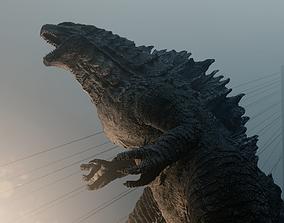 3D model Godzilla kaiju titan