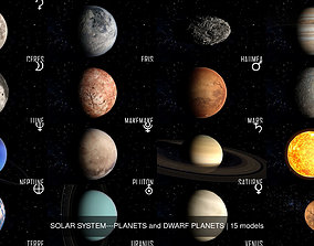 SOLAR SYSTEM---PLANETS and DWARF PLANETS 3D