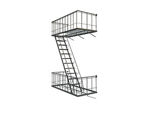 3D model Fire Escape
